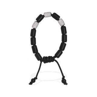 PRINCESS MONTE CARLO Bracelet Homme Argenté et noir   Achat / Vente