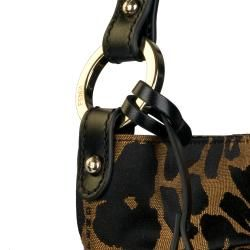 Fendi Jaguar Print Mini Canvas Hobo Bag