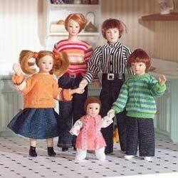 Dolls House Familie 5 Puppen für Puppenhaus 6537: