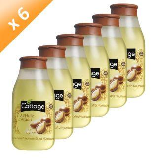 Lot de 6   COTTAGE Douche huile dargan 250 ml   Sans paraben   Testé
