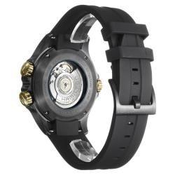 Hamilton Mens Khaki Navy Black PVD Steel, Rubber Automatic Watch
