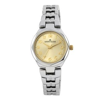 Anne Klein Round Dial Two tone Metal Bracelet Watch with Champagne