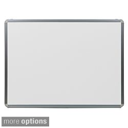 Offex Portable Porcelain Magnetic Marker Board with Aluminum Frame