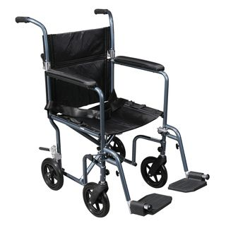 Drive Medical Deluxe Lightweight Transport Wheelchair with Removable
