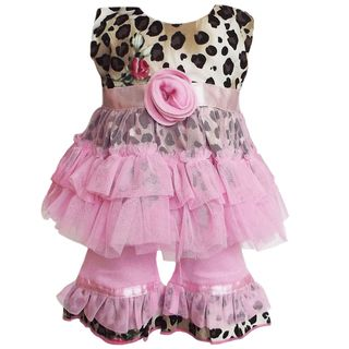 AnnLoren 2 Piece Leopard Rose and Tulle American Girl Doll Outfit