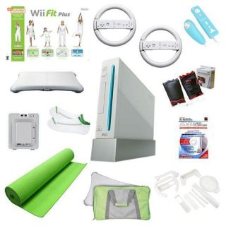 Nintendo Wii Mega Holiday Bundle Wii Fit Plus, Yoga Mat, and Much More