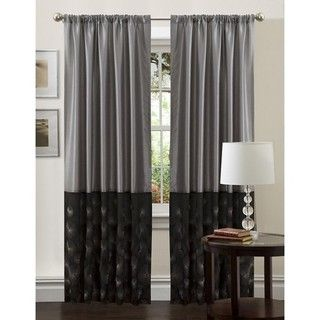 Lush Decor Black/ Silver 84 inch Ovation Curtain Panel