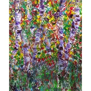 Ankan Purple Trees Gallery wrapped Canvas Art