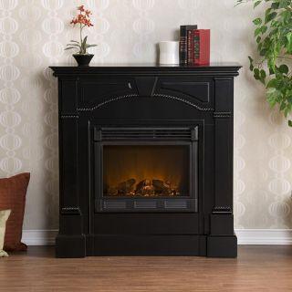 Wynn Black Electric Fireplace