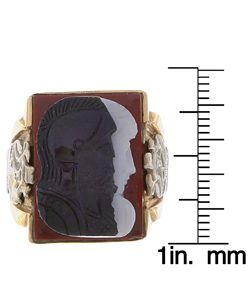 10k Yellow Gold Tri color Cameo Antique Ring
