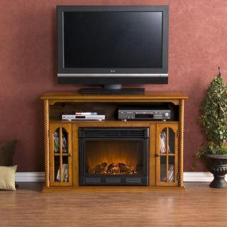 Peyton Pine Media Console Electric Fireplace