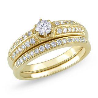 Miadora 10k Yellow Gold 1/2ct TDW Diamond Bridal Ring Set MSRP $1,768