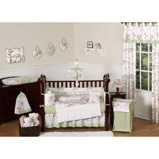 Sweet Jojo Designs Rileys Roses 9 piece Crib Bedding Set See Price in