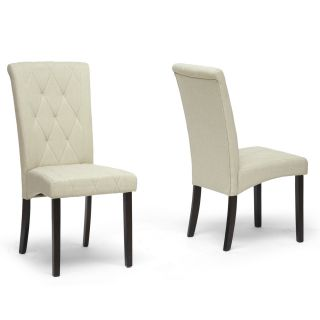 Baxton Studio Alinia Beige Modern Dining Chairs (Set of 2) Today $189