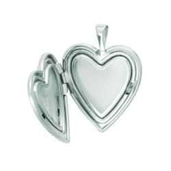 Silver Flower/ Butterfly Mis 15 Anos Heart shaped Locket Necklace