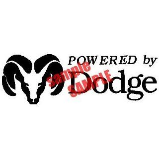 POWERED BY DODGE LOGO WHITE DECAL STICKER VINYL