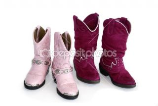 Pair of girls cowboy boots  Stock Photo © Donna Beeler #1657457
