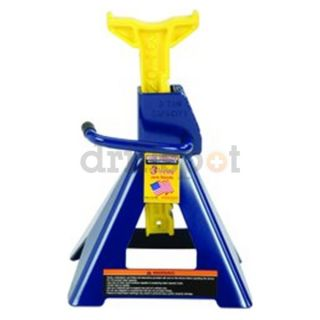 Hein Werner HW93503 3 Ton Blue/Yellow Ratchet Style Jack Stand Pair