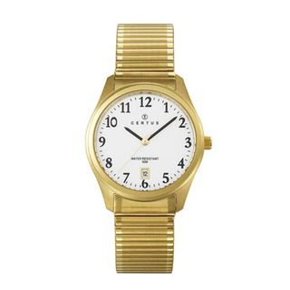 Certus Paris Mens Gold tone Stainless Steel Watch