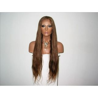 Star Flow Medium Brown Full Lace 20 inch Human Hair Wig