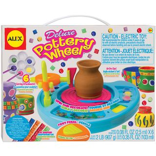 Deluxe Six paint Air drying Clay Pottery Wheel with AC Adapter