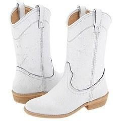 Steve Madden Lasoo White Leather Boots