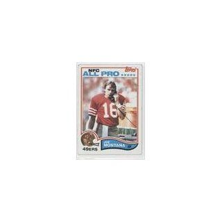 Joe Montana San Francisco 49ers (Football Card) 1982 Topps