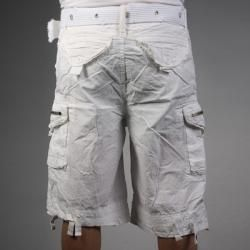 Laguna Beach Jean Company Mens Hermosa Beach White Belted Cargo