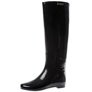 Henry Ferrera Womens Colorado Solid Knee High Rubber Rain boot