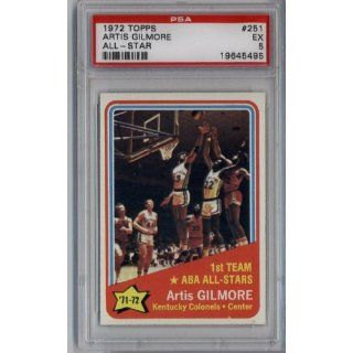 1972 TOPPS BASKETBALL CARD # 251 ARTIS GILMORE ALL STAR