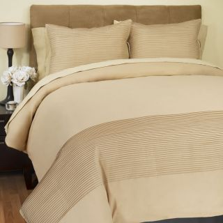 Raymond Waites 300 Thread Count Taupe Duvet Cover (Twin)