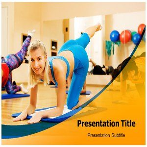 Aerobics Exercise PowerPoint Template   Aerobics Exercise