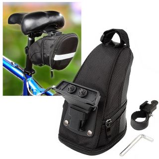 Black Bicycle Saddle Seat Bag with Tool