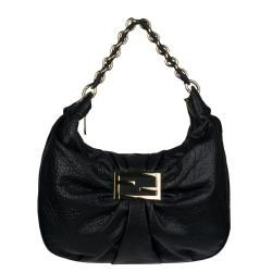 Fendi Mia Black Leather Hobo Bag