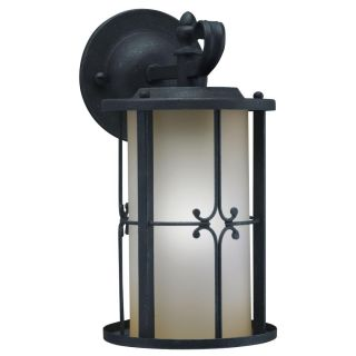 Antique Black 1 light Small Outdoor Wall Fixture