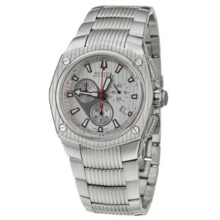 Bulova Accutron Mens Corvara Stainless Steel Quartz Watch