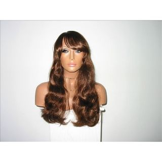 Star Flow Brown Full Lace 12 inch Human Hair Wig with Bangs