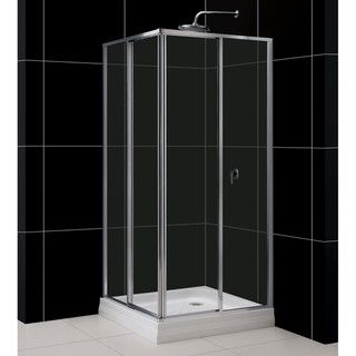 DreamLine Cornerview 34 x 73 Clear Glass Shower Enclosure
