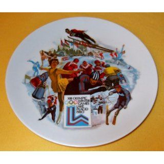 THE OFFICIAL 1980 OLYMPIC WINTER GAMES PLATE The Official