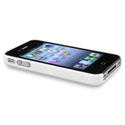 White Diamond Gem Rear Snap on Case for Apple iPhone 4/ 4S