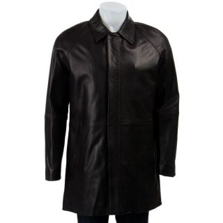 Cole Haan Mens Lambskin Leather Car Coat