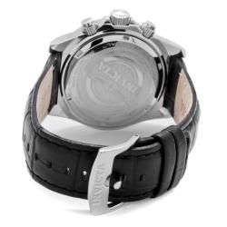 Invicta Mens Elite Black Genuine Calf Leather Watch