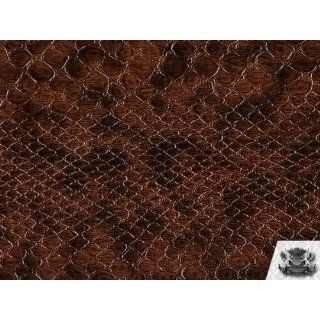 Vinyl Snake VOILA BROWN Faux / Fake Leather Upholstery Fabric By the