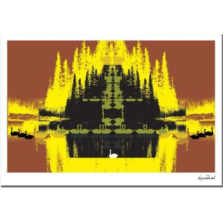 Miguel Paredes Yellow Trees Canvas Art