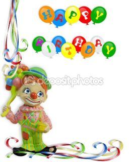 Happy Birthday Invitation Clown  Stock Photo © Irisangel #2155677
