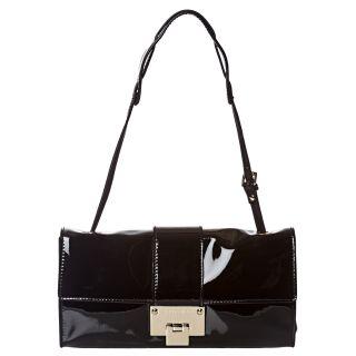 Jimmy Choo Black Patent Leather Shoulder Bag
