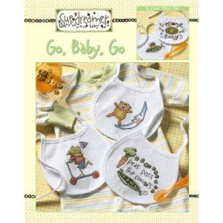 Sue Dreamer Baby Bibs Go, Baby, Go Cross Stitch Book
