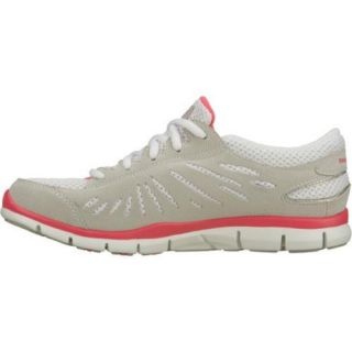 Womens Skechers Gratis Purestreet Light Gray/Pink