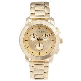Monument Womens Gold tone Sporty Watch