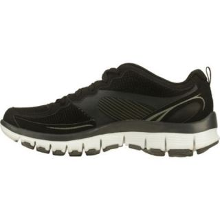 Womens Skechers Tone Ups Fitness Flex Black/White